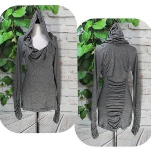 Zella All Shirred Up Pullover Sweater Top Sz Small